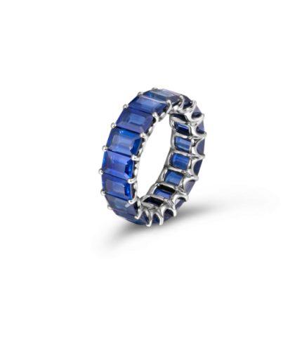 10.86ct-Blue-Sapphire-Emerald-Cut-Eternity-Band