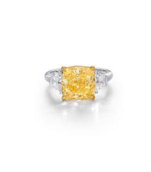 3.3ct-Cushion-Cut-Yellow-Diamond-Ring-Fancy-Light-Yellow